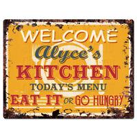 PP1706 HELEN/'S KITCHEN Plate Chic Sign Home Room Kitchen Decor Birthday Gift
