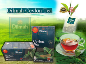 dilmah ceylon premium black tea 50pcs bags pack pure srilankan free shipping