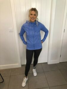 LADIES EX MARKS & SPENCER ACTIVE SPORTSWEAR ZIPUP BLUE  HOODED JACKET GYM M&S