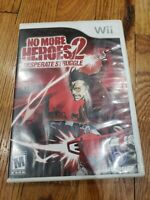 No More Heroes 2: Desperate Struggle (Nintendo Wii, 2010) cib complete
