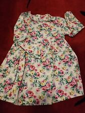 NWT girls spring floral dress above the knee pink size 8
