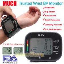 MUCH Potable Automatic Wrist Blood Pressure Monitor Cuff Heart Rate Tester 2018
