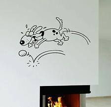 Wall Sticker Dog Animal Nursery Kids Room Pet Funny Playful Vinyl Decal (ig1249)