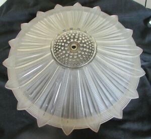 Vintage Art Deco Sunflower Opaque glass light shade