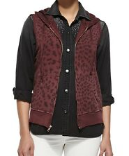Current Elliott Garnet Leopard print Hoodie SZ 2 New