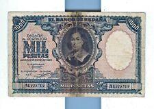 Cincin19,Raro Billete de 1000 Ptas Emision 9 Enero 1940,Murillo,serie A