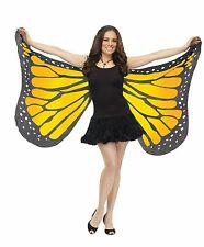 Butterfly Wings Soft Fabric Adult Costume Accessory, One Size, Orange-Yellow