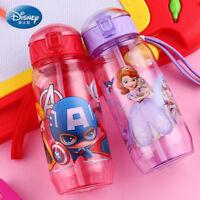 Baby Kids Children School Drinking Water Straw Bottle Disney Sippy Suction Cup