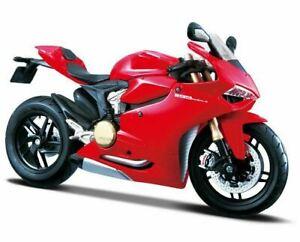 Maisto 1:12 Ducati 1199 Panigale Motorcycle Assembly Line Model Kit - M39193