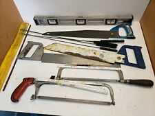 Lot Plumbers/Handyman Tools Lenox Hand Saws, Empire Level, Hacksaw W/Blades