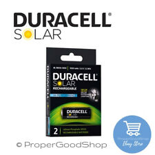 DURACELL BL18500 HI PERFORMANCE SOLAR OUTDOOR RECHARGEABLE BATTERIES x2 FREE P&P