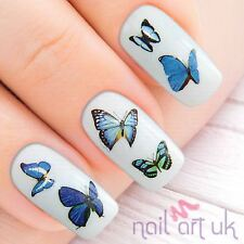 Blue Butterfly Nail Stickers, Water Decals, Tatoos, Transfers 01.03.054