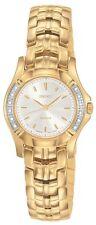 NEW SEIKO SXGN52 Gold Tone Stainless Steel Analog Diamond Watch Women's