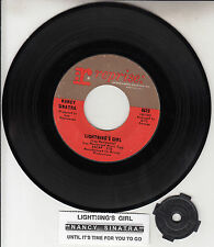 "NANCY SINATRA  Lightning's Girl 7"" 45 rpm vinyl record + juke box title strip"