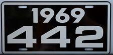 1969 69 OLDSMOBILE 442 LICENSE PLATE OLDS W30 W31 400 455 HURST F85 CUTLASS M21