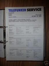 Service MANUAL TELEFUNKEN HT 850/1800 sintonizzatore, ORIGINALE