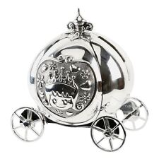 SILVER PLATED CINDERELLA CARRIAGE COACH MONEY BOX BAMBINO BABY CHRISTENING GIFT