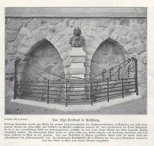PREßBURG/BRATISLAVA SLOWAKEI, Werbung 1911, Franz Liszt-Denkmal Skulptur Plastik