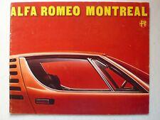 Prospekt Alfa Romeo Montreal, 2.1973, 22 Seiten