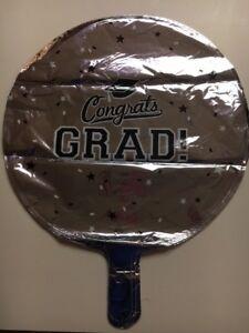 """Anagram Congrats Grad!- Graduation 18"""" Foil Balloons Silver (SET OF 4)"""