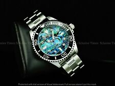 Invicta Men 47mm GRAND PRO DIVER 0.03 CARAT DIAMONDS Abalone Dial SS Watch 200MM