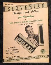 1946 Slovenian Waltzes & Polkas For Accordion Vol 1 By Fran Yankovic Music Book