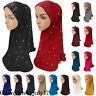 Women Muslim Caps Bead Hijab Scarf Islamic Headscarf Shawl Hat Head Cover Turban
