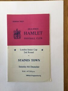 DULWICH HAMLET v STAINES TOWN ( LSC ) 1976/7.