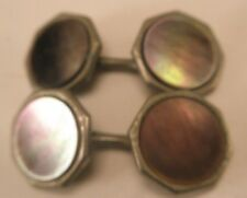 Swank Double Sided Mother of Pearl Vintage Victorian Cuff Links gift d-19