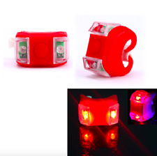 6 Pcs! Red Waterproof Rear LED Silicone Bike Tail Light Detachable Flashlight