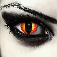 Farbige Vampir Kontaktlinsen gruselige rote Karneval Kostüm Farblinsen Halloween
