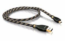 5,00m Viablue KR-2 Silver USB Kabel A/Mini B 5,0m 5m (1Stk)