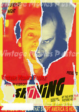 The Shining 1980 Repro Reproduction Print United Kingdom jack nicholson Poster