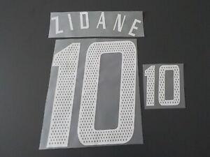 Flocage de ZIDANE pour maillot équipe de France bleu 2004 2006 patch shirt