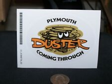 Plymouth Duster Coming Through - decal/sticker