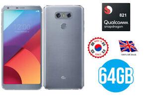 LG G6 - 64GB - Ice Platinum (Unlocked) Smartphone - KOREAN IMPORT *UK BOXED*