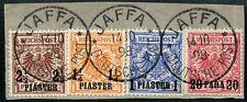51/DP Türkei 1898 Krone/Adler 9ba, 7d, 8d + 10d Briefstück Attest Steuer BPP