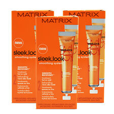 • 3x Matrix Sleek Look Smoothing System Smooth Recovery Treatment (5 x 20ml)