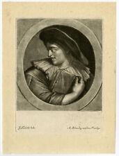 Antique Master Print-GENRE-BOOK-HAT-Blooteling-Toorenvliet-ca. 1690