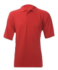ORBIT 2x Fastrack POLO SHIRT Short Sleeve Pique Cotton RED Ps240 240gsm LARGE