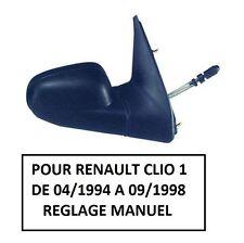 RETROVISEUR DROIT PASSAGER MANUEL RENAULT CLIO 1 PHASE 2 DE 04/1994 A 09/1998