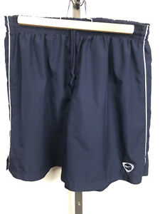 Vintage Nike Soccer Running Shorts Large Navy Blue 1990s 2000s [No Pockets] VTG