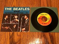 THE BEATLES  PAPERBACK WRITER / RAIN ORIGINAL PICTURE SLEEVE & 45 RPM