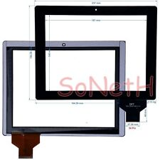 "Vetro Touch screen Digitizer 9,7"" COBY KYROS MID9742 MID9742-8 Tablet PC Nero"