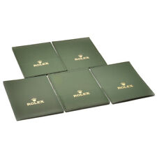 Auth ROLEX Document holder 5 pieces around 1990s - 2000s Green Used ip039