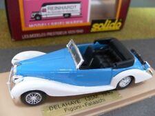 1/43 Solido Delahaye 135M Figoni Falaschi Cabrio blau weiß 1939 Delage 1151