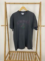 VTG Kure Beach North Carolina Coast Thin Striped Single Stitch T-Shirt Size XL