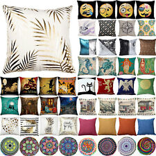 Vintage Linen Cotton Cushion Covers Waist Throw Pillow Cases Home Sofa Car Decor