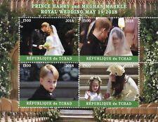 Chad 2018 CTO Prince Harry & Meghan Royal Wedding 4v M/S III Royalty Stamps
