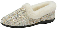 Ladies British Designed Slippers Fleece Lining Fur Collar Full Warm Outdoors